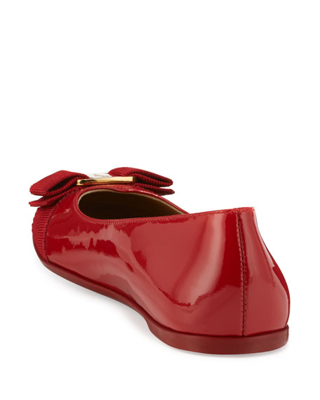 Varina Mini Patent Leather Ballet Flats, 10T-2Y