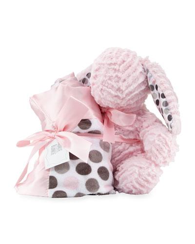Ziggy Bunny & Blanket Gift Set, Pink