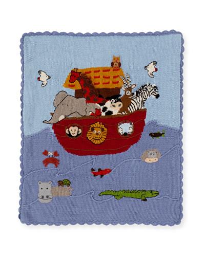 Kids' Noah's Ark Scalloped Blanket