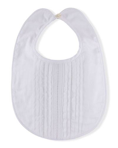 Cotton Pintucked Baby Bib