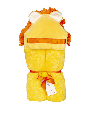 Lion Hooded Towel  Yellow