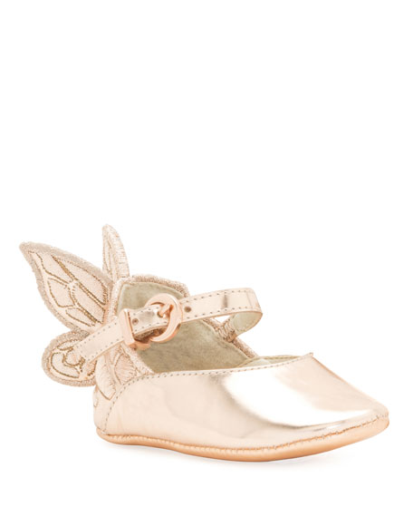 Chiara Butterfly-Wing Flat, Pink, Baby