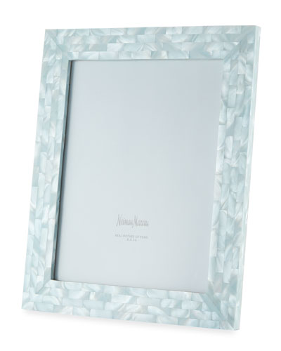 Mother-of-Pearl Picture Frame  Blue  8 x 10