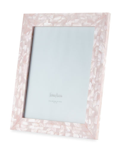 Mother-of-Pearl Picture Frame  Pink  8 x 10