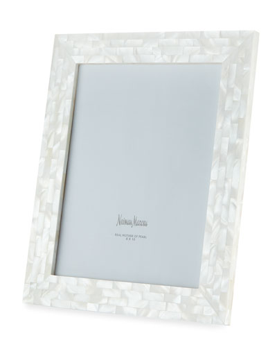 Mother-of-Pearl Picture Frame  White  8 x 10