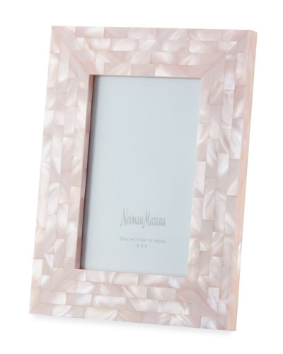 Mother-of-Pearl Picture Frame  Pink  4 x 6