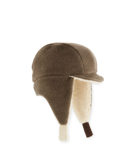 Image 1 of 1: Kids' Faux-Shearling Flap Trapper Hat