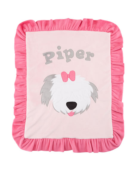 Personalized Pup Love Plush Lovey, Pink