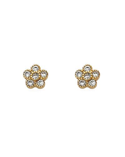 Girls' Flower Stud Earrings  Gold