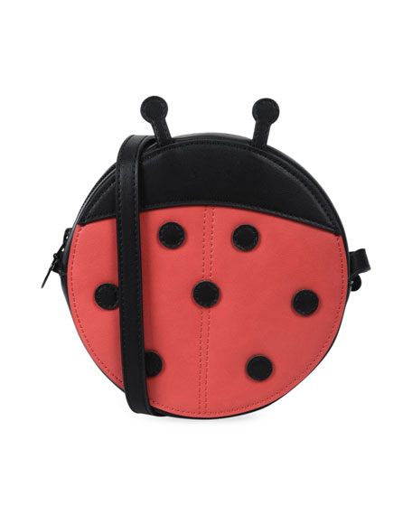 Girls' Faux-Leather Ladybug Crossbody Bag in Red