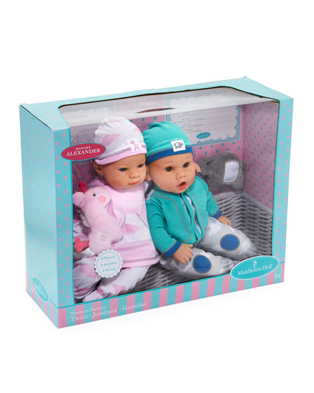 "16"" Newborn Twin Dolls"