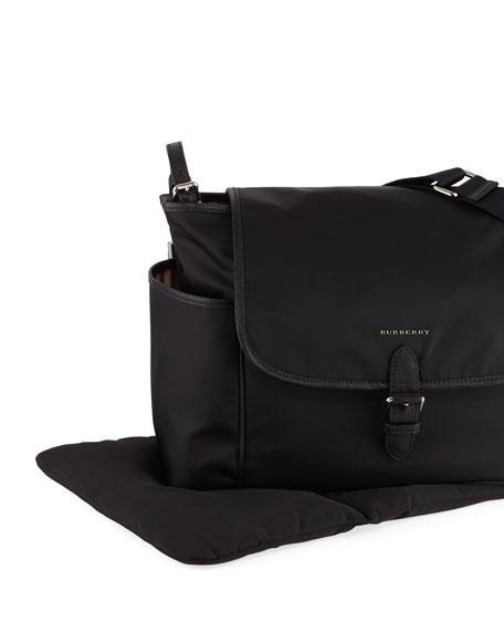 Flap-Top Canvas Diaper Bag