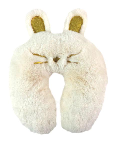 Kids' Furry Bunny Neck Pillow