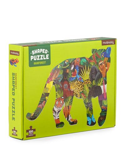 Rainforest Scene 300-Piece Shaped Puzzle