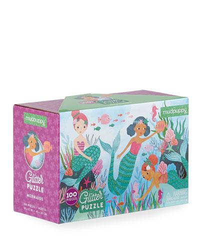 Glitter Mermaids 100-Piece Puzzle
