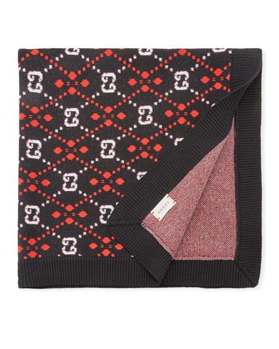 Interlocking G Knit Baby Blanket