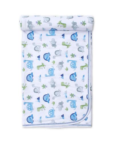 Dino Crew Printed Pima Baby Blanket
