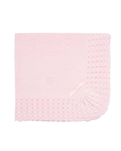 Pointelle Knit Baby Blanket
