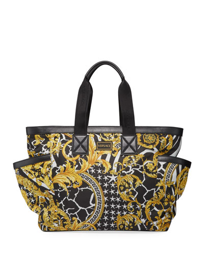 Barocco Print Large Diaper Bag