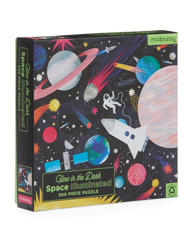 Space Illuminated 500-Piece Glow in the Dark Family Puzzle