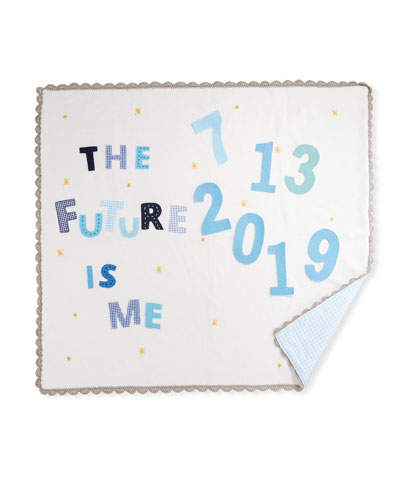 The Future Is Me Month Baby Blanket