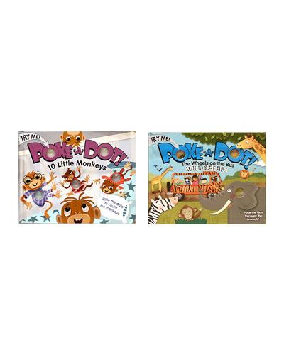 Poke-A-Dot Book Bundle - 10 Little Monkeys and Wheels on the Bus Books