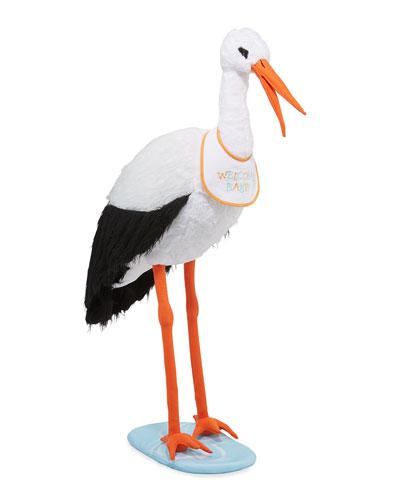 Lifelike Plush Stork
