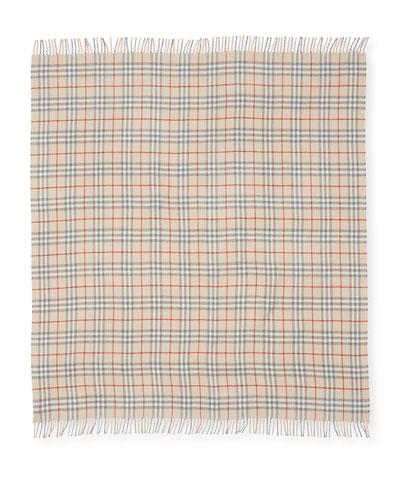 Vintage Check Wool Baby Blanket
