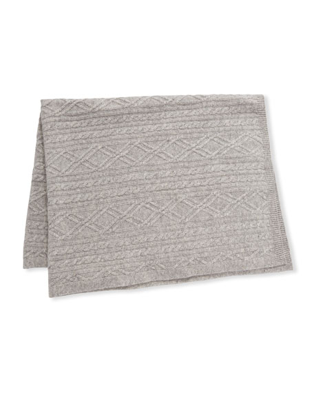 Argyle Cable Knit Baby Blanket