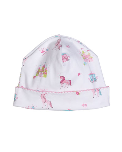 Unicorn Castle Printed Baby Hat