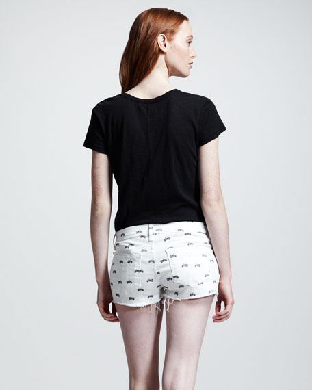 Mila Motorcycle-Print Shorts