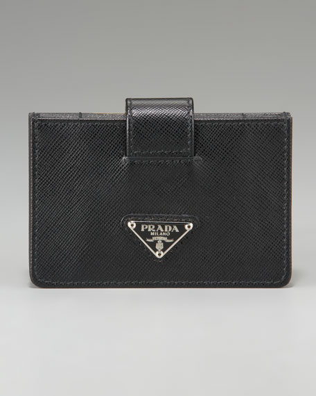 Saffiano Leather Accordion Card Case