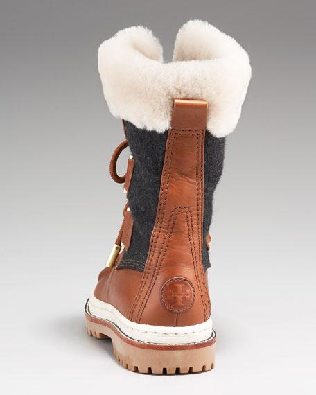 e0182c6d1183 Tory Burch Shearling Duck Boot