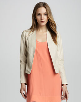 Joie Venette Open-Front Leather Jacket