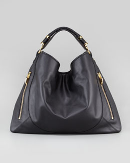Rachel Zoe Joni Leather Hobo Bag, Black