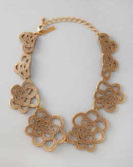 Oscar de la Renta Looped Lace Cluster Collar Necklace
