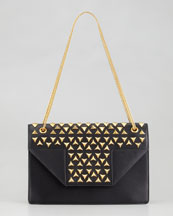 Saint Laurent Betty Studded Chain Shoulder Bag, Black