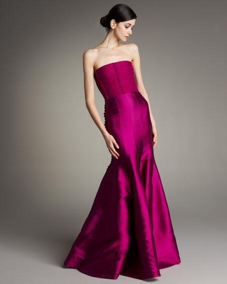 Corsage-Bodice Silk Gown