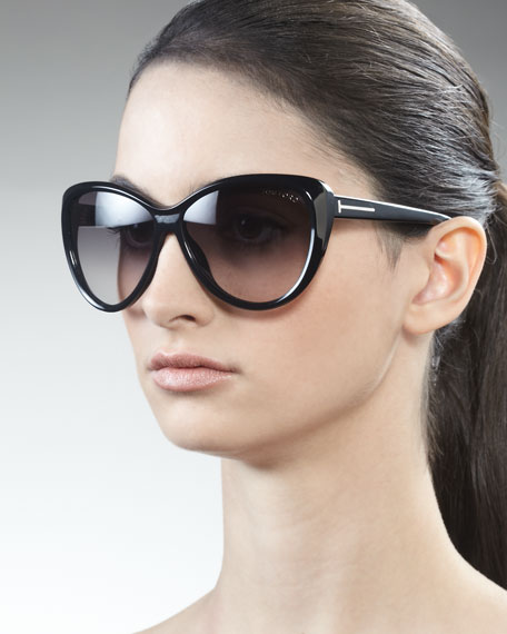 3be18f3910 Tom Ford Malin Cat-Eye Sunglasses