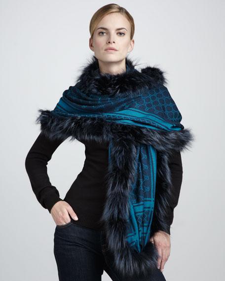 Josy2 Fox Fur-Trim GG Shawl