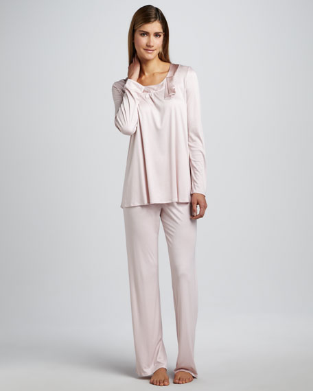 Salome Satin-Trim Pajamas