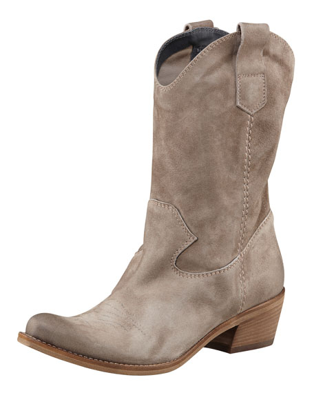 Suede Mid-Calf Boot
