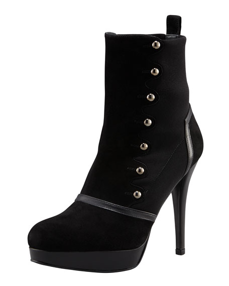 Stud-Detail Ankle Boot