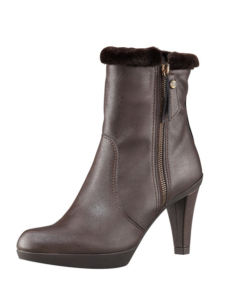 Faux-Fur Trimmed Water-Resistant Boot