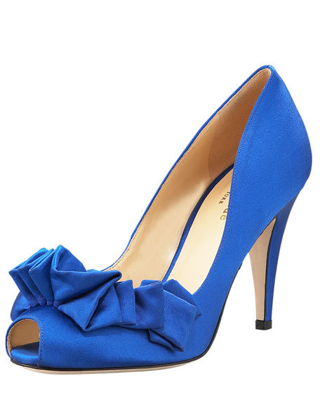 daive ruffled peep-toe pump