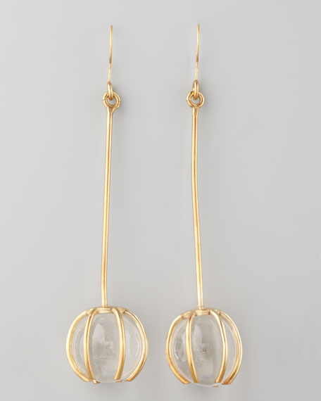 Quartz Prong Earrings