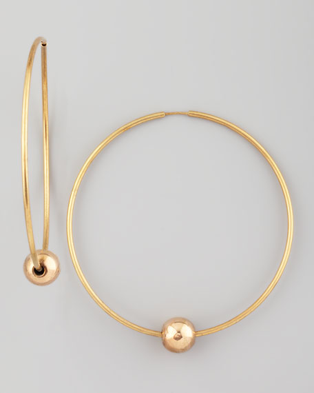 Single-Sphere Hoop Earrings
