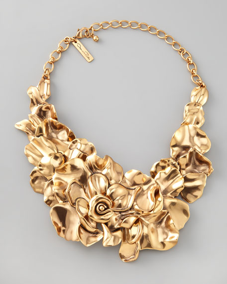Large Flower Collar Necklace