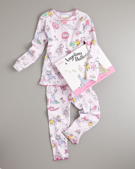 Angelina Ballerina Pajama and Book Set, Sizes 2T-3T