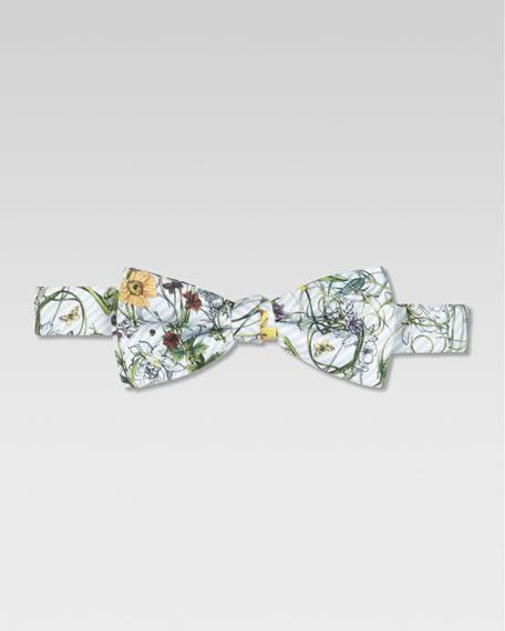 Boys' Eustatius Floral Print Silk Bow Tie